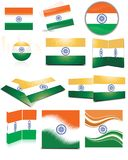 Indian flag collection Royalty Free Stock Photos