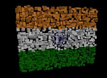 Indian flag on cubes Stock Photography