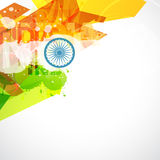 Indian flag design. Abstract style indian flag illustration Royalty Free Illustration