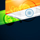 Indian flag design. Vector artistic indian flag design illustration Royalty Free Stock Photography