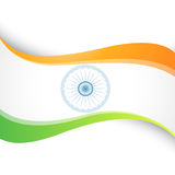 Indian flag design. Vector wave style indian flag design Stock Photo