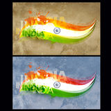 Indian flag design Stock Photos