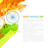 Indian flag design. With space for your text vector illustration