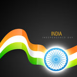 Indian flag design. Stylish indian vector flag design art Stock Photo