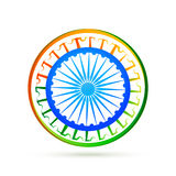 Indian flag design concept with blue wheel Stock Images