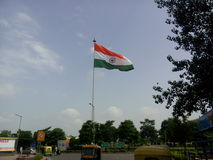 Indian  flag fluttering. The Indian national flag fluttering away to glory at cannaught place Delhi Stock Image