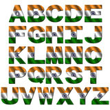 Indian flag font Stock Photography