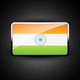 Indian flag icon Stock Photos