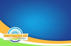 Indian flag. independence day design. Illustration graphic Royalty Free Stock Photo