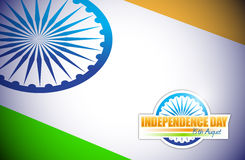 Indian flag. independence day design. Illustration graphic Royalty Free Stock Photos