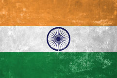 Indian Flag. India - Indian Flag on Old Grunge Texture Background Stock Image