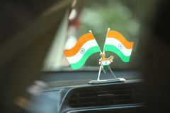 Indian Flag with indian map.  stock photo