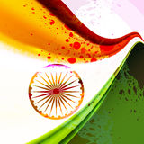Indian flag Indian republic day and independence d. Ay illustration tricolor stylish wave Royalty Free Stock Photos