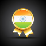 Indian flag label Royalty Free Stock Photo