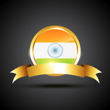 Indian flag label Stock Photo