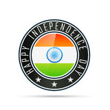 Indian flag label Stock Photos