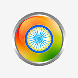 Indian flag label Stock Photography