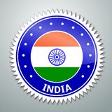 Indian flag label Royalty Free Stock Photos