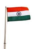 Indian flag. And mast isolated on white background stock photo