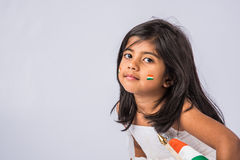 Indian flag and people stock photography