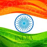 Indian flag poster template vector design illustration. Indian flag poster template vector illustration Royalty Free Stock Photos