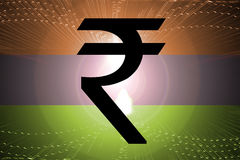 Indian Flag Rupee Stock Photo