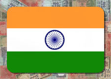 Indian flag with Rupees Stock Photography