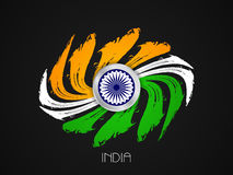 Indian flag theme design Royalty Free Stock Image