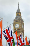 Indian flag and Union Jack in Parliament Square, London Stock Images