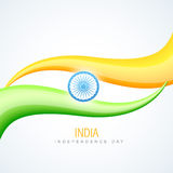 Indian flag in wave style Stock Image