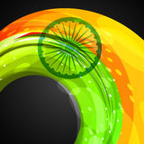 Indian flag in wave style. Vector background Royalty Free Stock Image