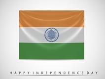 Indian Flag waving background Stock Images