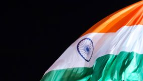 Indian flag waving in the sky Royalty Free Stock Image