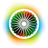 Indian flag wheel Stock Photo