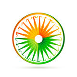 Indian flag wheel design with tri colors Royalty Free Stock Photography