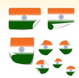 Indian flags Royalty Free Stock Images
