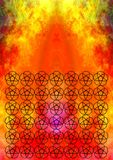 Indian flames flower pattern Stock Photo