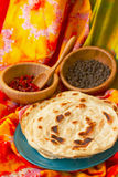 Indian flat bread and Royalty Free Stock Photography