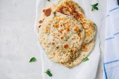 Indian flatbread - Herb stuffed paratha royalty free stock photo