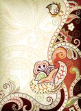 Indian Floral Background Stock Image