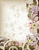 Indian Floral Background Royalty Free Stock Photo