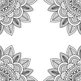 Indian floral frame for coloring pages book. Vector illustration Royalty Free Stock Image