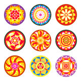 Indian floral patterns | Set 1 Stock Photo