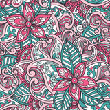 Indian Floral Seamless Pattern Stock Images