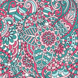 Indian Floral Seamless Pattern Royalty Free Stock Photography