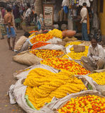 Indian Flower Market Stock Image