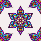 Indian flower pattern Stock Photos