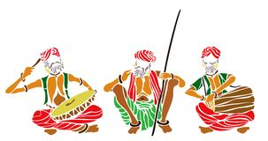 Indian folk artist Stock Images