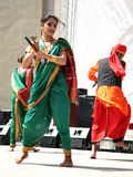 Indian folk dance. Indian children in traditional costume perform at the National Sovereignty and Children Day festival at Maltepe University on April 25, 2010 Stock Photography