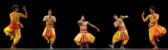 Indian folk dance Royalty Free Stock Photo
